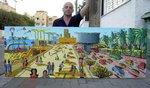 landscape paintings naive painter naife artists folk artworks