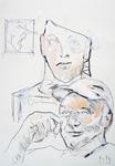 Im Atelier, mit Büste und Skizze