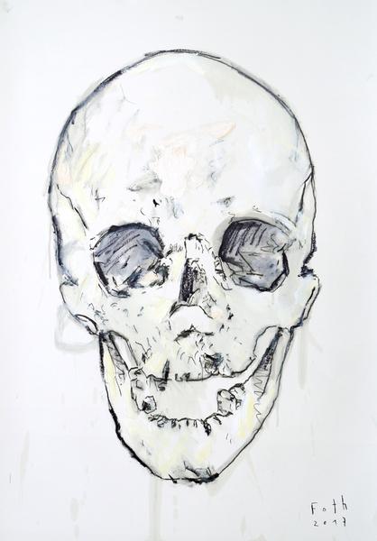 Schädel mit einer Reihe fehlender Zähne