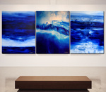 SEA AND SKY AND MELANCHOLIA AT THE END OF SUMMER II (triptych)