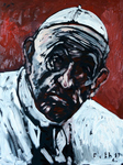 Papst Franziskus, von Melancholie übermannt