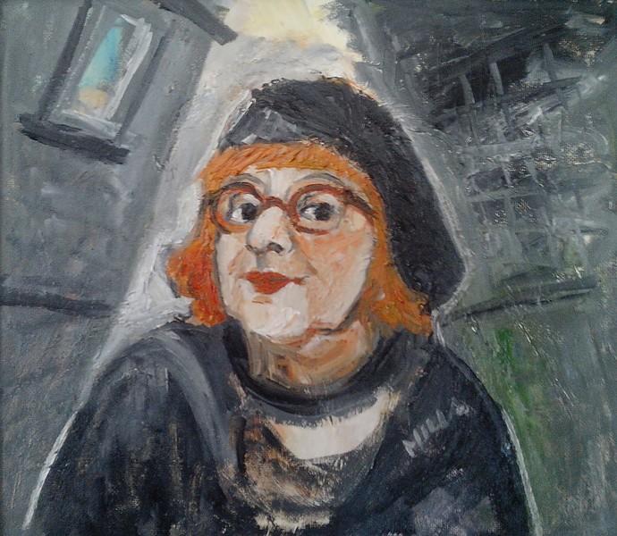 Malerin im   Zitronengasserl