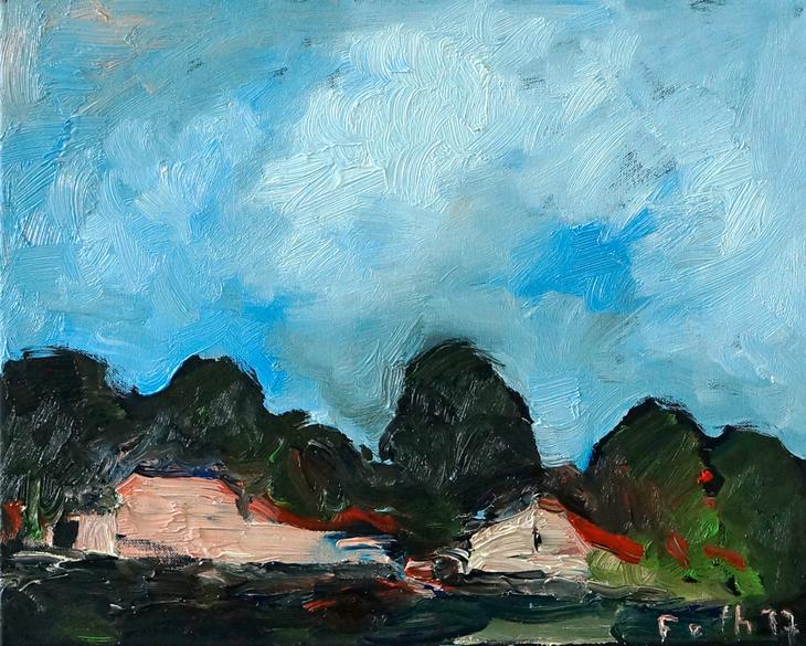 Brochterbeck'sche Landschaft mit Gehöft