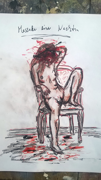 slaughtering a nude