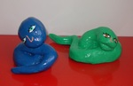serpente blu,serpente verde