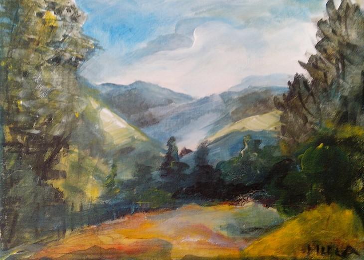 Berglandschaft an der Mur