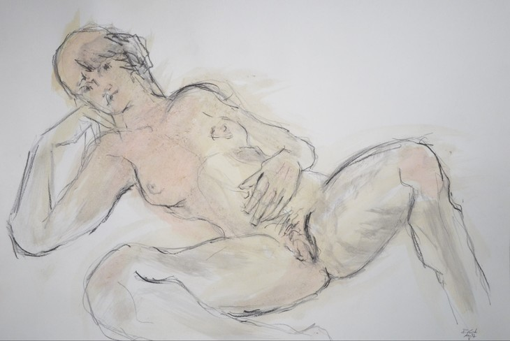 reclining woman dreaming