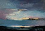 Rheinlandschaft, Sonne, durch Wolken brechend