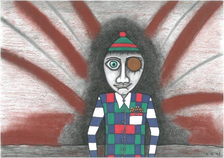 Djecak s drvenim okom A boy with a wooden eye