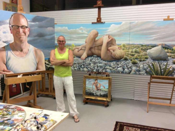 Artist in Scottsdale Studio