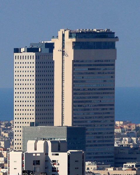 Tall buildings in the city of Tel Aviv Skyscrapers A large high