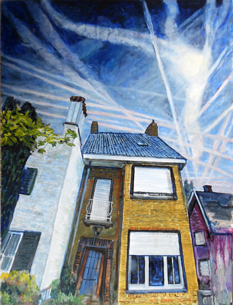 Chemtrails at my hometown @Wim Carrette