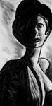 half shadowed girl with bowler  (study purposes)