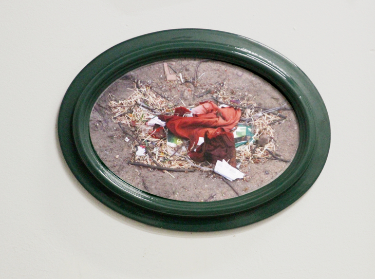 oval green frame
