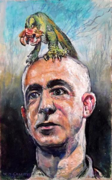 Jeff Bezos and parasite @Wim Carrette