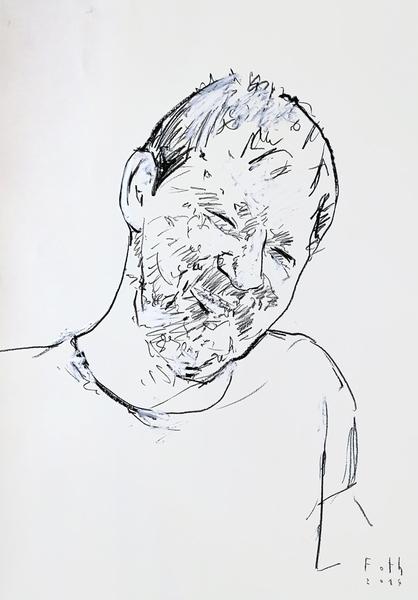 Rainer Werner Fassbinder, lächelnd