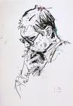 Rainer Werner Fassbinder, rauchend