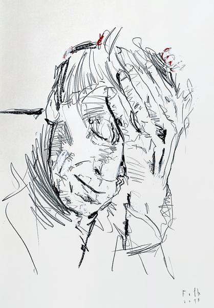 Alberto Giacometti, erschöpft