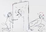 Dilettantin, einen Tänzer malend