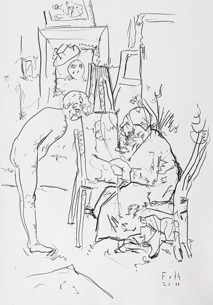 Atelierszene von Heinrich Rettig, ein Zitat