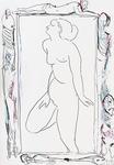 Geister, über große Zeichnung von Modigliani wachend