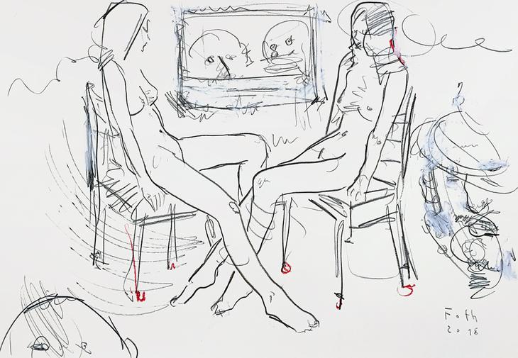 Im Atelier, Gespenster