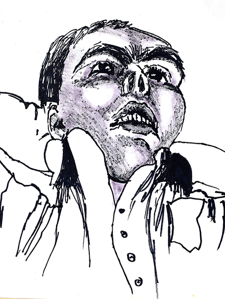 expressive portrait drawing expressionism portraits drawings art