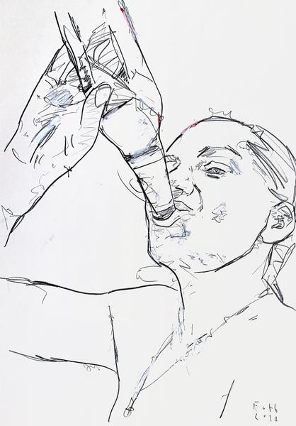 Trinkende Frau