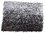 Abstract drawings  black and white ink on paper Rapael Perez