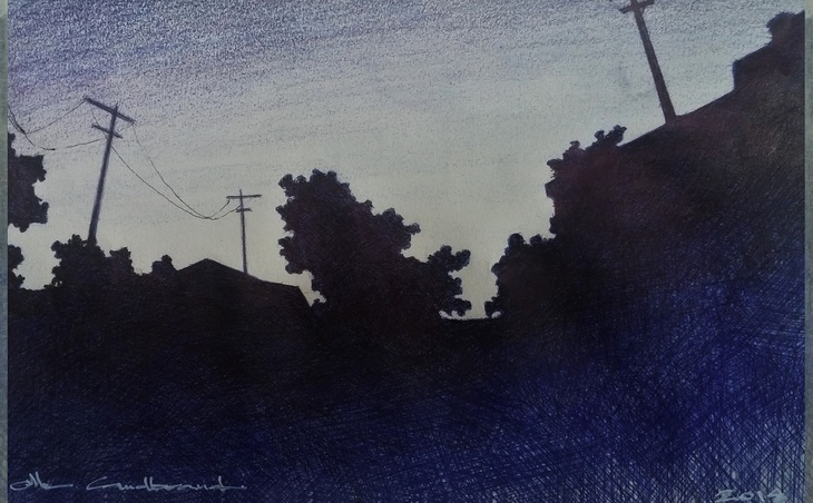 Small Town-Evening I