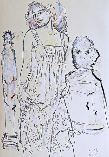 Die Bildhauerin, April II