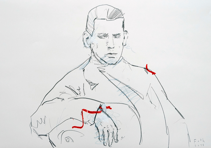 Leo Tolstoi, der Künstler als junger Mann