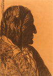 RED INDIAN MAN WITH FEATHER