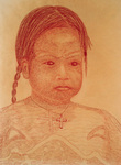 RED INDIAN CHILD WITH CROSS CHAIN