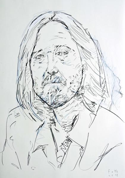 Porträtstudie eines älteren Mannes