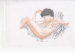 Cupid, asleep