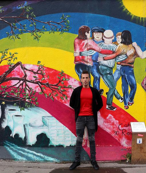 art paintings on berlin wall germany assaf henigsberg travel gay