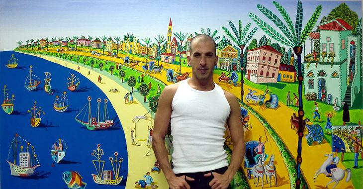 large paintings naive folk artists painters naif israeli artist