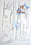 Zwei Figuren, kurzzeitig ein Jugendzimmer belebend