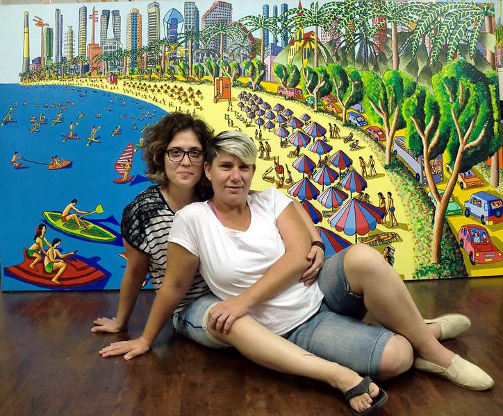 naive artworks painting urban landscape  naif artist painter