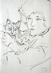 Colette mit Katzen
