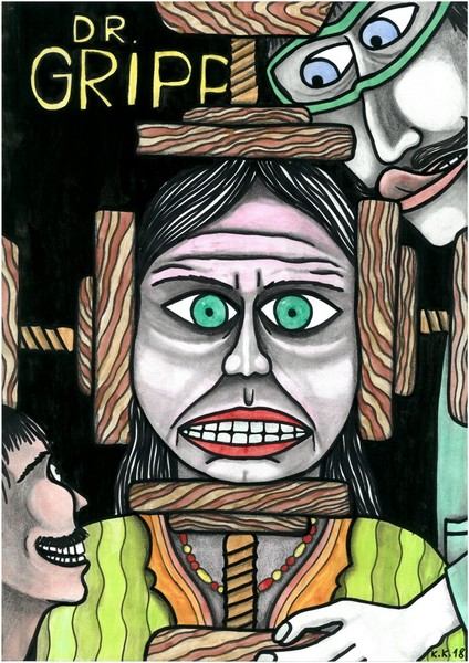 Doctor Gripp, unusual outsider art, fantastic story
