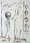Tochter des Künstlers, malend