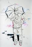 Selbst mit Sonnenschirm