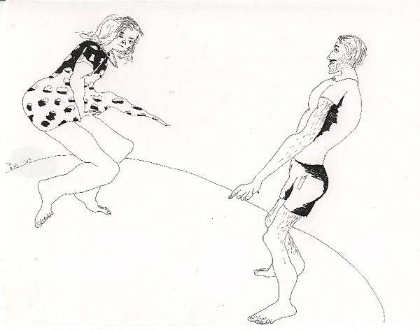 man woman drawing male female drawings love relationship art