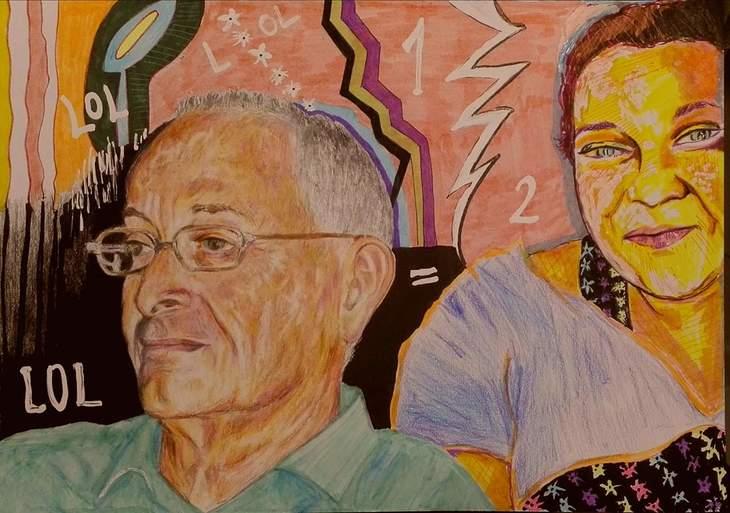 Selfie with Amos shoken ( an israeli art colector)