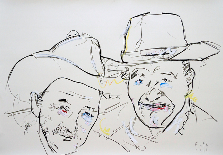 Alte Männer mit schönen Hüten