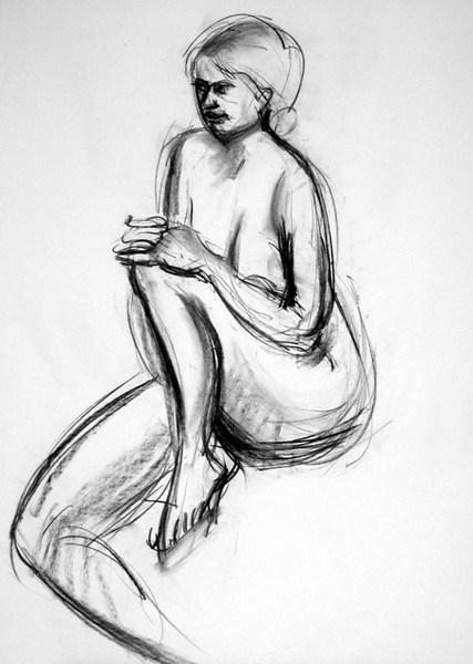 nude, charcoal 45x60