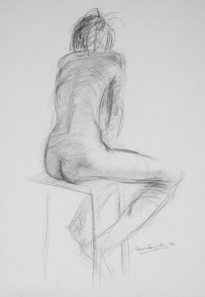 Seated nude, pencil 38x55