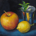 Apple, Lemon, Silver Goblet